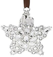 Kate Spade New York Bejeweled Star Ornament Starry Night 2016 Silverplate New