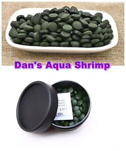 Spirulina Tablets Algae Veggie Wafer Shrimp Food Cyrstal Cherry Plecos Catfish
