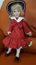 """NEW US Historical Society Porcelain Doll 15"""" Renoir """"Young Girl in Blue Hat"""""""