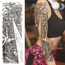 TEMPORARY TATTOO ARM SLEEVES SHEET ADULT FOR WOMEN MEN HALLOWEEN COSPLAY