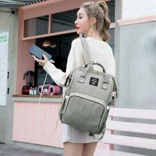 Maternity Diaper Bags Nappy Handbag USB Port Mummy Nursing Backpacks Waterproof