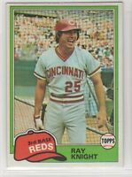 1981 Topps Baseball Cincinnati Reds Team Set