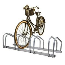 4 Bike Bicycle Rack Floor Stand Parking Garage Storage Freestanding Ground Mount