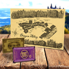 Quality Harry Potter Diagon Alley Map + Hogwarts Express ticket (birthday gift)