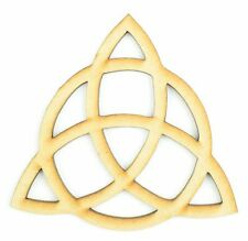 Laser Cut Triquetra  Pagan Wiccan Symbol Wooden MDF Blank Craft Shape