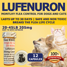 """Flea Control for Dogs 20-45lbs """"12 Month"""" 205mg Flea Control Capsules"""