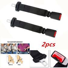 2XBlack Car Seat Seatbelt Safety Belt Extender Extension Buckle Safe Parts 36cm