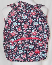 New Hollister Backpack Book Bag Floral Blue Red Tote NWT