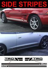 side stripes TRD style fit toyota mr2 celica