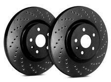 SP Performance Rear Rotors for 2011 YUKON  | Drilled Black Zinc C55-133-BP2138