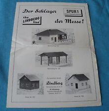 Lindberg germany notice 2 feuilles ho 1:87 maison pour reseau train électrique