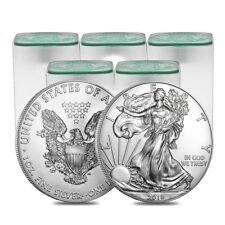 Sale Price - Lot of 100 - 2018 1 oz Silver American Eagle BU (5 Roll,Tube of 20)