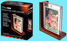 Ultra Pro EXECUTIVE Wood CARD HOLDER Adjustable Display Stand Magnetic Screwdown