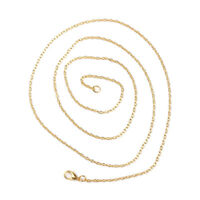 """12 Pcs Jewelry Necklace Oval Gold Plated Cable Chain 45.7cm(18"""") long(B59641)"""