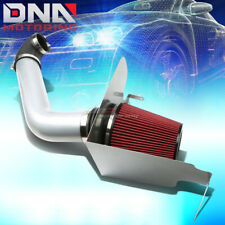 FOR 04-08 FORD F150 P2 5.4 V8 SILVER POLISHED SILVER COLD AIR INTAKE+HEAT SHIELD