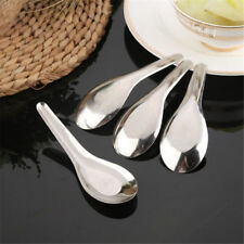 5pcs Thai Chinese Japanese Stainless Steel Kitchen Food Rice Soup Spoons