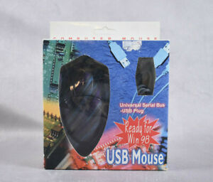 Computermaus Features Universal Serial Bus USB Plug Mouse in Schwarz/Lila