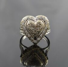 Vintage .60 ctw Diamond Puffy Heart Ring in 14k Yellow & White Gold - Size 5.5
