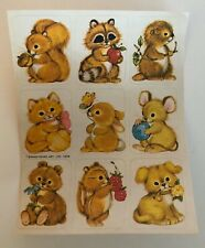 1980's Vintage Stickers. Cute Animal 80's Stickers. Preowned.