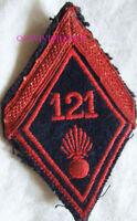 IN18097 - LOSANGE DE BRAS 121° REGIMENT D'INFANTERIE