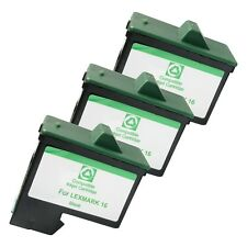 3 BLACK LXM16 Ink Cartridges for Lexmark Z 13 23 25 34 35 515 600 602 Printers