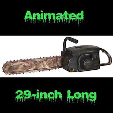 Life Size REALISTIC ANIMATED CHAINSAW Zombie Hunter Serial Killer Costume Prop