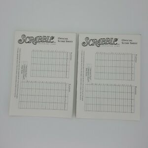 2001 Scrabble Deluxe 41 Score Pad Sheets Replacement Game Part