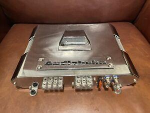 AudioBahn A4002T Amp Amplifier Car Truck Silver Chrome