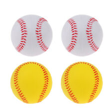 4x Soft Pu Training Exercise Practice Baseball Kid Safety Toy Bouncy Ball