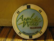 Vintage Angels of the Winds Casino Arlington WA ( Washington )  $1 Casino Chip