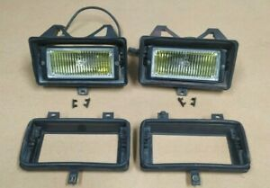 BMW E30 yellow fog lights EURO Hella with brackets GENUINE @RARE @Early models