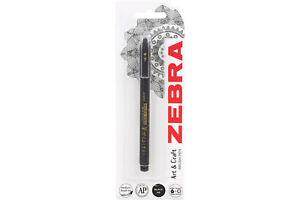 Zebra Brush Pen Medium Black