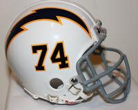 1960 Ron Mix San Diego Chargers Custom TB  Riddell Mini Helmet w Metal Face Mask