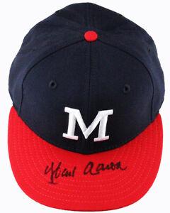 Hank Aaron Signed Autographed Milwaukee Braves Cooperstown Hat Cap PSA/DNA