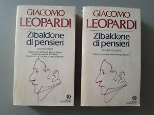 Giacomo Leopardi - Zibaldone di pensieri Vol. 1 + Vol. 2 - Mondadori - 1980