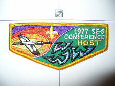 OA Seminole Lodge 85,F2b,1977 SE6 Conference HOST Flap,89,237,340,385,Florida,FL