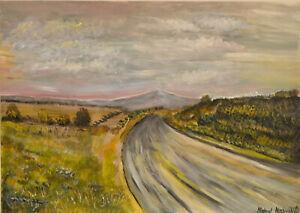 Open Road - Original Acrylic Landscape Painting 35x25cm