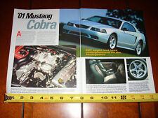2001 MUSTANG COBRA - ORIGINAL 2001 ARTICLE