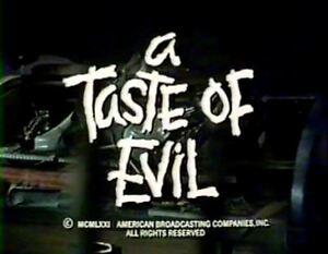 A Taste Of Evil - 1971 Stars: Barbara Stanwyck, Roddy McDowell (plays worldwide)