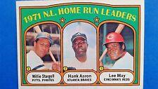 1972 Topps Hank Arron 1971 N.L. HOME RUN LEADERS Baseball Card #89