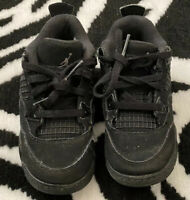 Air Jordan IV 4 Black 8C Toddler