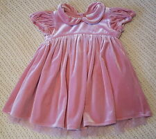 Pink velvet DRESS double peticoat 6-9mths, by NEXT * party fancy birthday easter