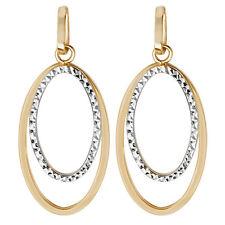9 Carat Multi-Tone Gold Drop/Dangle Fine Earrings