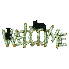 Bear Welcome Sign Plaque Home Garden Decoration New Gift Cute Wall Mount Art