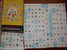 VECCHIA TOMBOLA ALFABETIERE La Scuola Editrice con 32 cartelle insegnare lettere