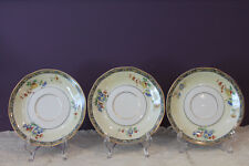 3 THEODORE HAVILAND LIMOGES FRANCE MONTREUX SAUCERS