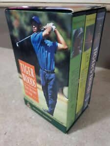 TIGER WOODS THE STORY SO FAR 3 VIDEO SET  VGC VIDEO PAL~ A RARE FIND Free Post