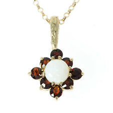 Pre Owned 9ct Opal and Garnet Pendant