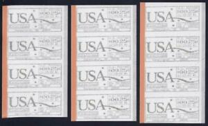 CVP16 Scarce 3 Different Spacing Strips 4 Computer Vended Postage 11/29/89 MNH