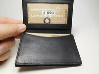 Western Express Black Genuine Soft Padded Leather Business Card Case-ID #MIN-090